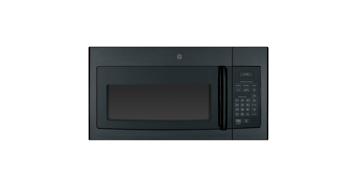 GE-JVM3160DFBB 30-inches Black Over the Range Microwave Oven image