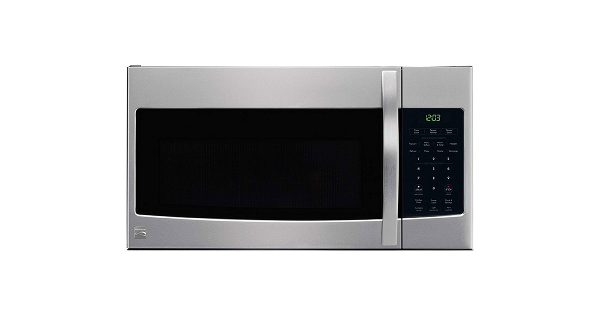 Kenmore 80333 Microhood Stainless Steel Over the Range Microwave image