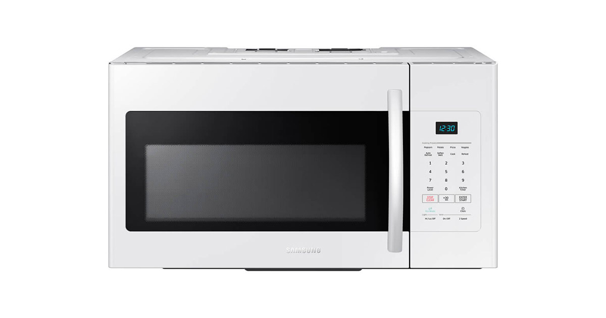 Samsung ME16H702SEW White Over the Range Microwave Oven image
