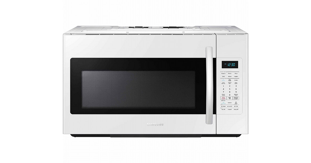 Samsung ME18H704SFW White Over the Range Microwave Oven image