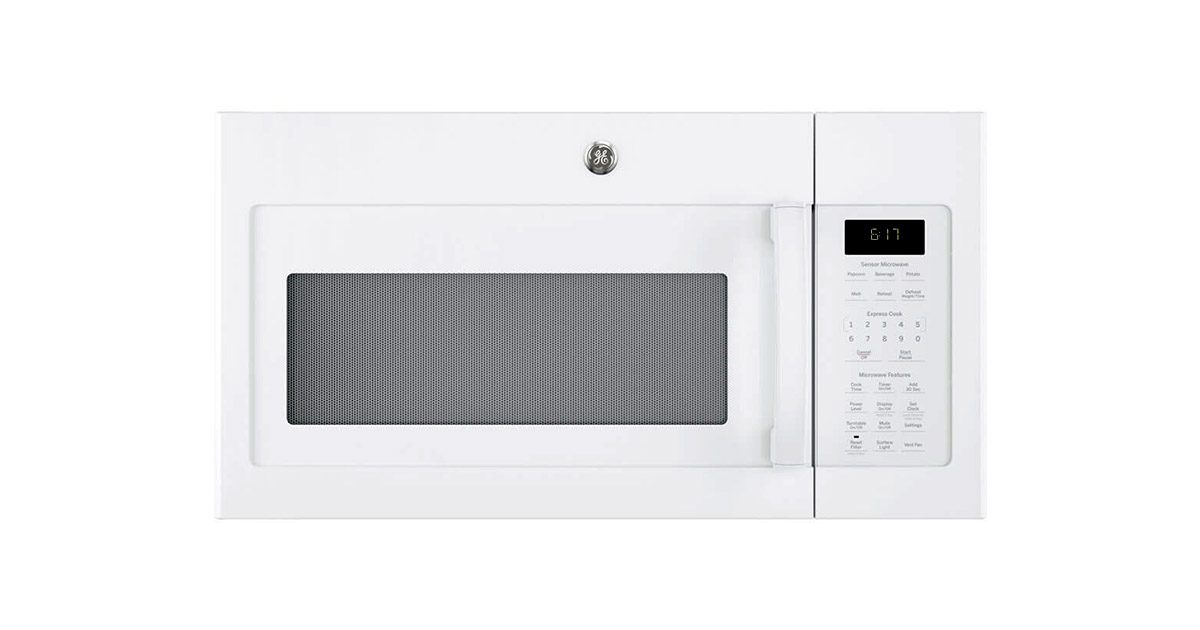 GE-JVM6175DKWW White Over The Range Microwave Oven image