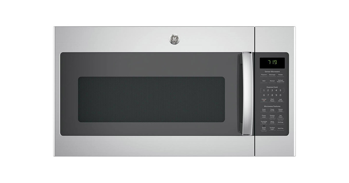 GE-JVM7195SKSS 30-inches Stainless Steel Over the Range Microwave Oven image