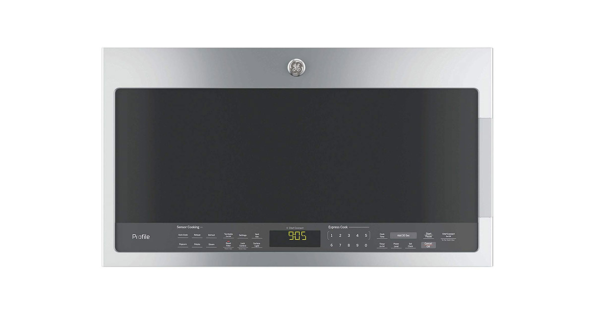 GE PVM9005SJSS Over the Range Stainless Steel Microwave Oven image
