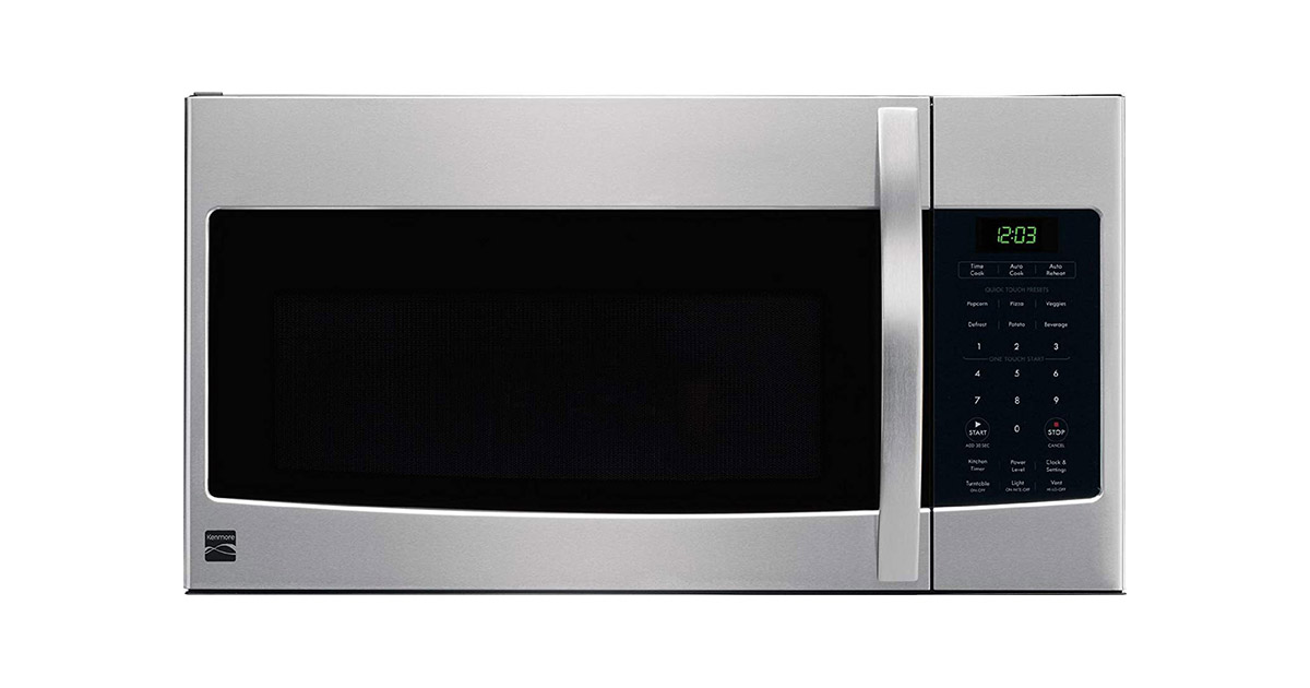 Kenmore 80323 Microhood Stainless Steel Over the Range Microwave Oven image