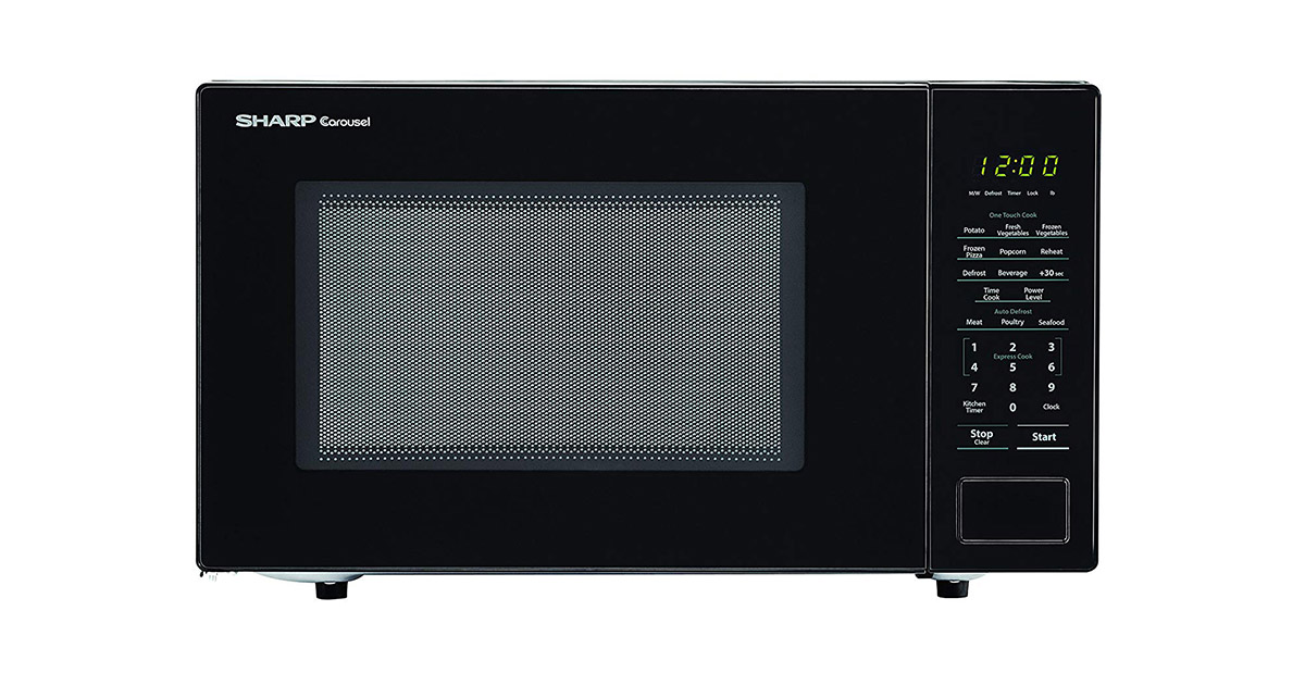 SHARP ZSMC1131CB Carousel Countertop Black Microwave Oven image