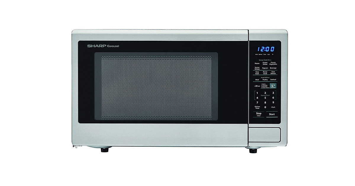 SHARP ZSMC1442CS Carousel Countertop Stainless Steel Microwave Oven image