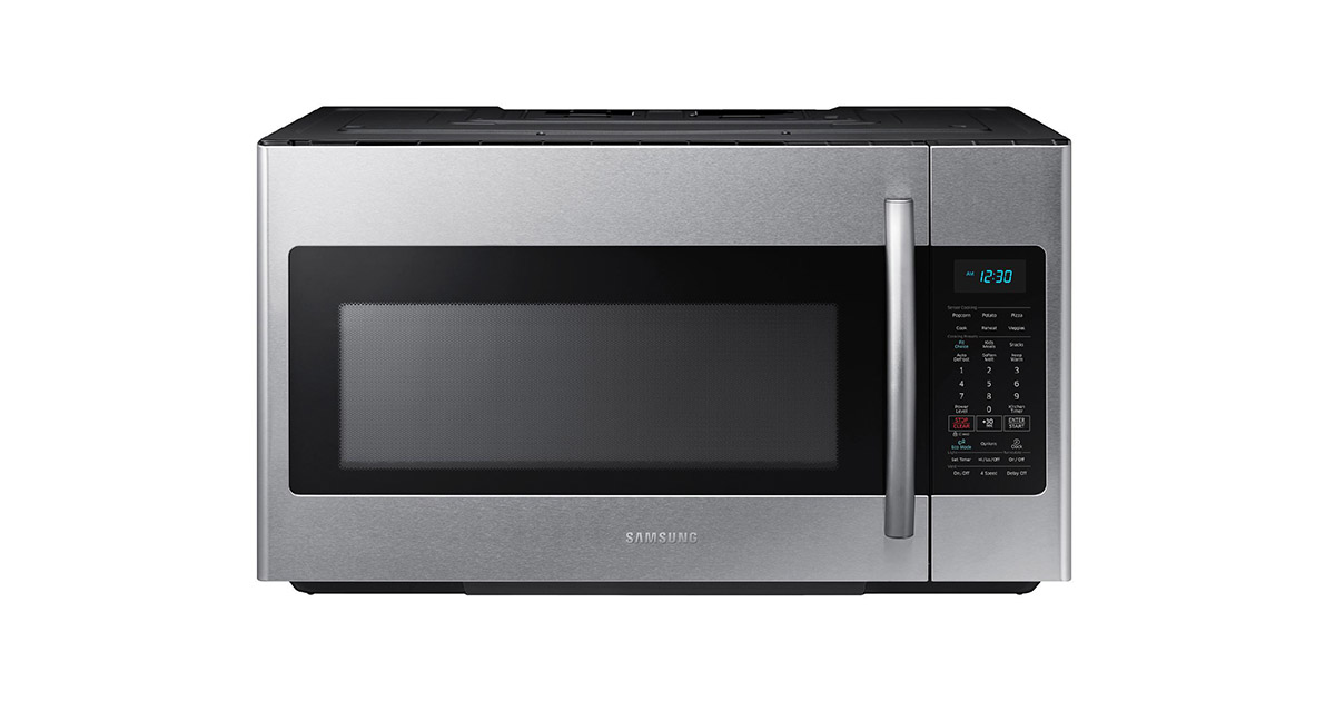 Samsung ME18H704SFS Stainless Steel Over the Range Microwave Oven image
