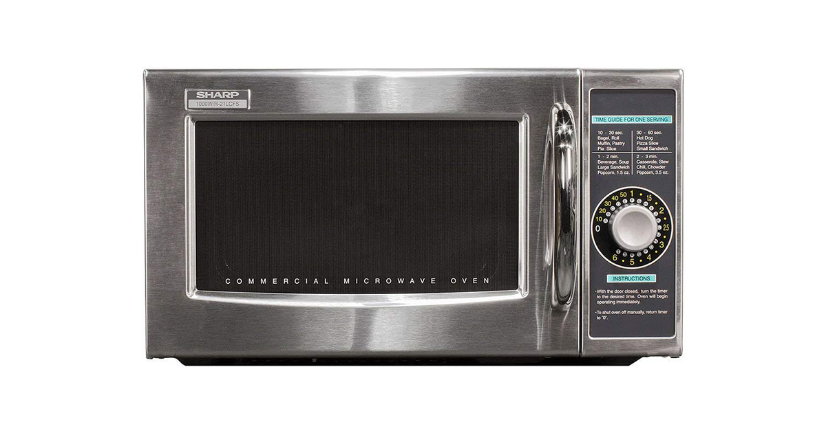 Sharp R21LCFS Medium Duty Commercial Microwave Oven Update of R 21LCF image