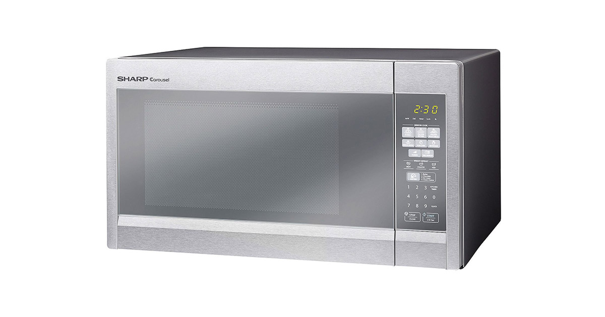 Sharp R551ZM Stainless Steel Sensor Technology Microwave Oven image