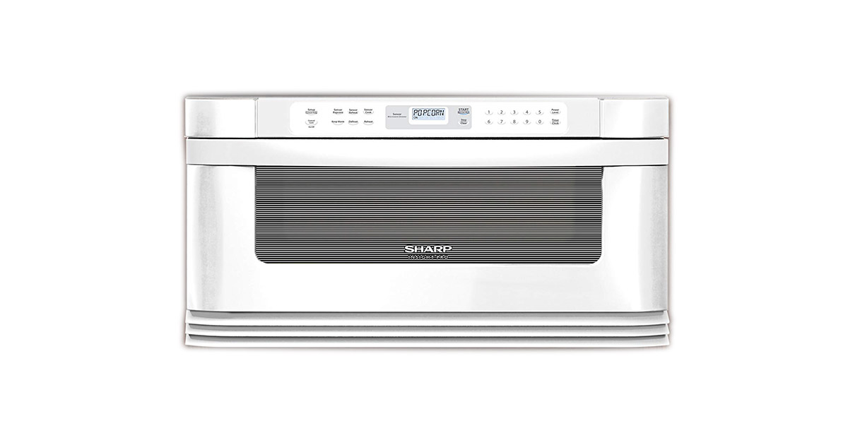 Sharp KB 6002LW 30Inches Manual White Microwave Drawer image