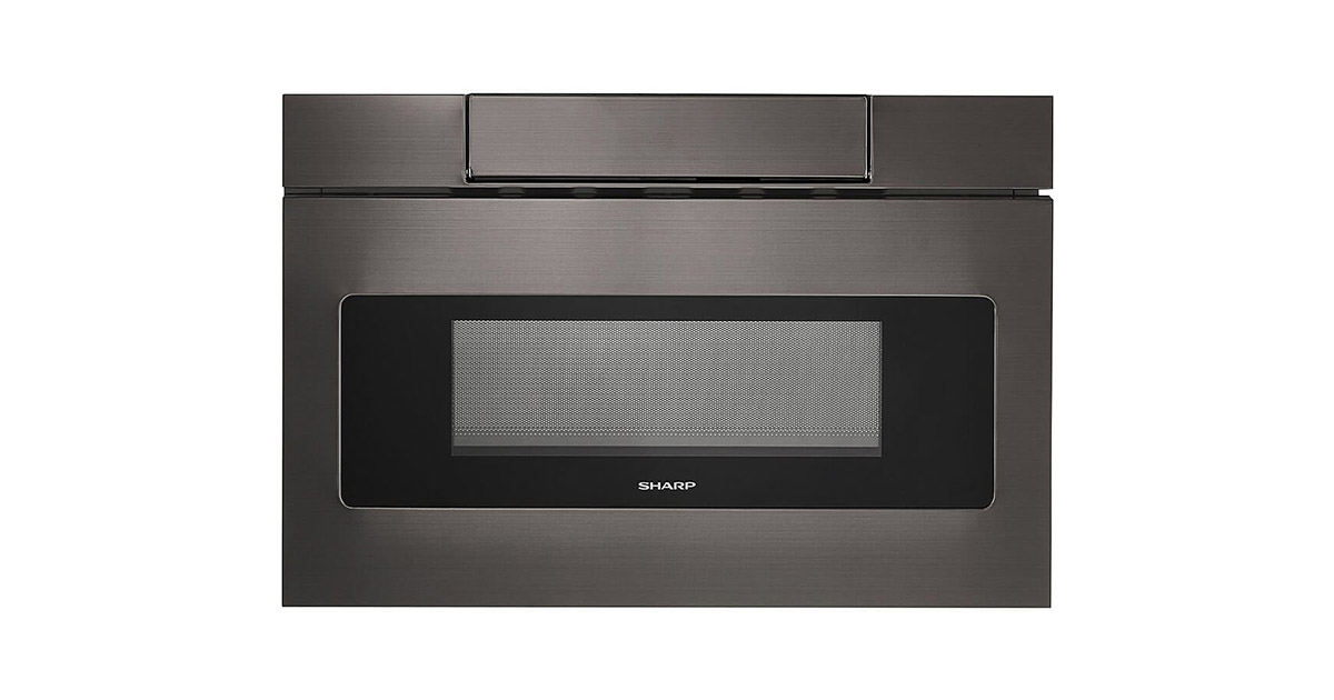 Sharp SMD2470AH 24inches Black Stainless Steel Microwave Drawer image
