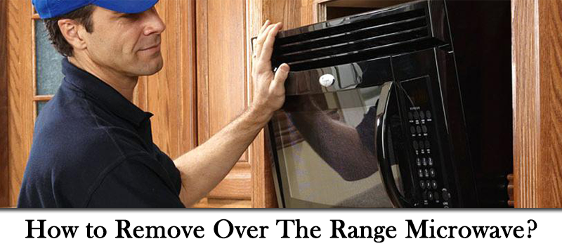 How to uninstall Over the Range Microwave Image