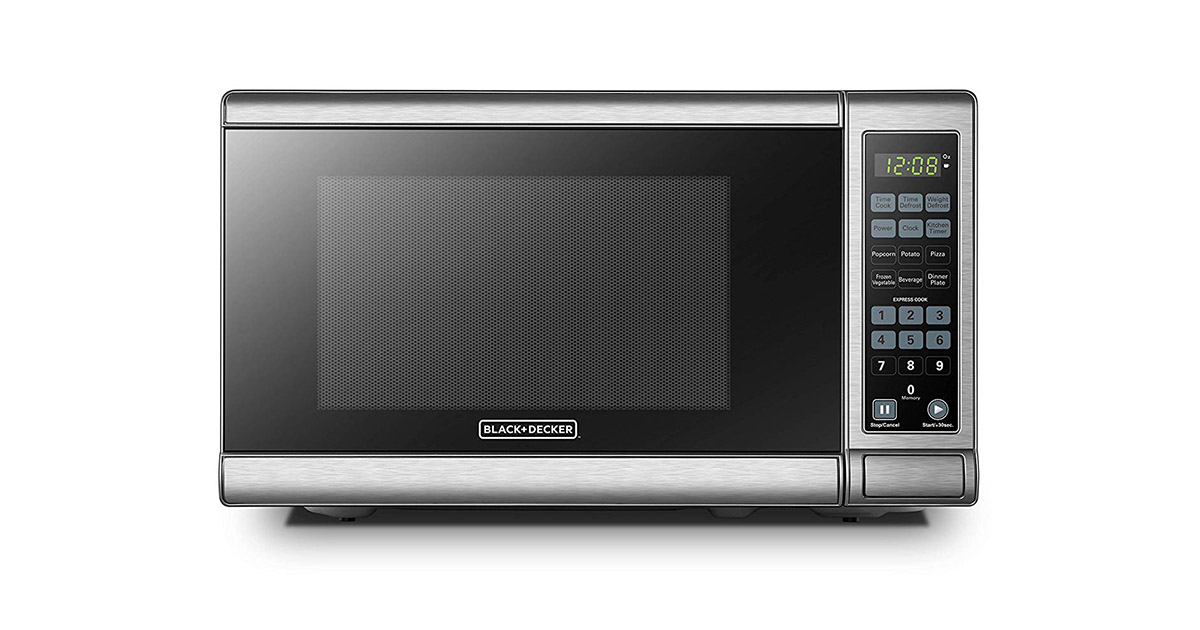 BLACKDECKER EM720CB7 Digital Stainless Steel Microwave Oven image