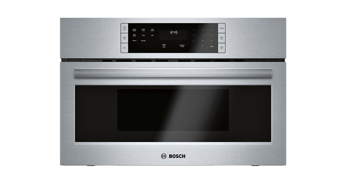 Bosch HMB50152UC 500 Series 30-inches Stainless Steel Built-In Microwave Oven image