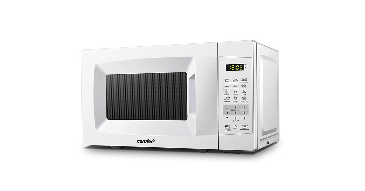 COMFEE EM720CPL-PM Pearl White Countertop Microwave Oven image