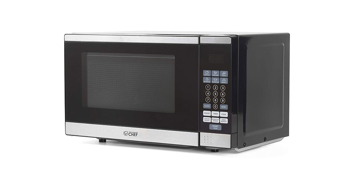 Commercial Chef CHM770SS Stainless Steel Black Countertop Microwave Oven image