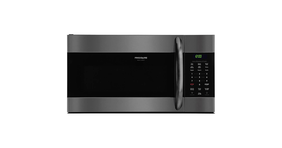 Frigidaire FGMV176NTD 30inches Gallery Series Black Stainless Steel Over the Range Microwave image