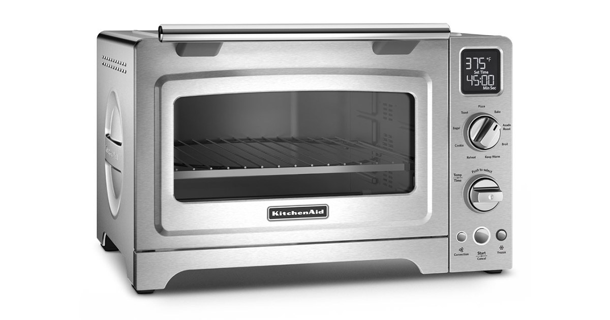 KitchenAid KCO275SS 12Inches Stainless Steel Convection Digital Countertop Microwave Oven image
