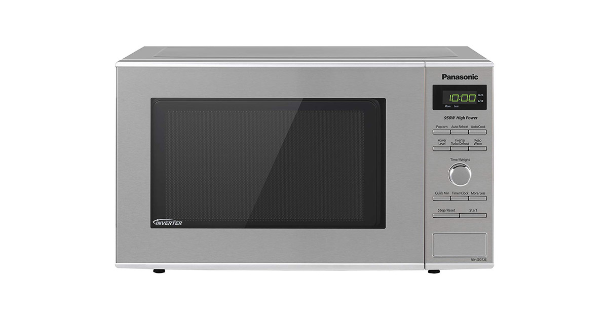 Panasonic NNSD372S Stainless Steel Countertop Built-In with Inverter Technology and Genius Sensor Microwave Oven image