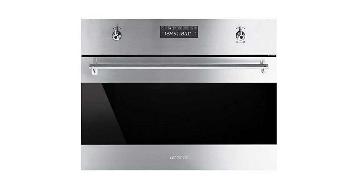 Smeg SU45MCX1 Classic Built-in Stainless Steel Microwave Oven image