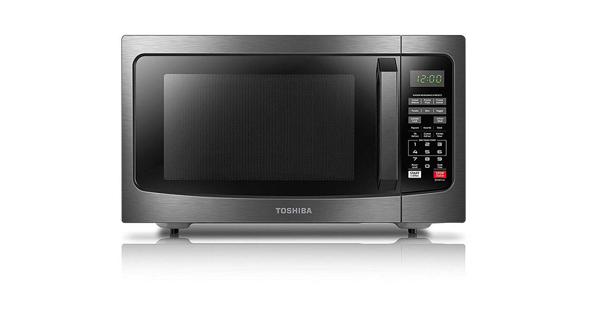 Toshiba EM131A5CBS Black Stainless Steel Microwave Oven image