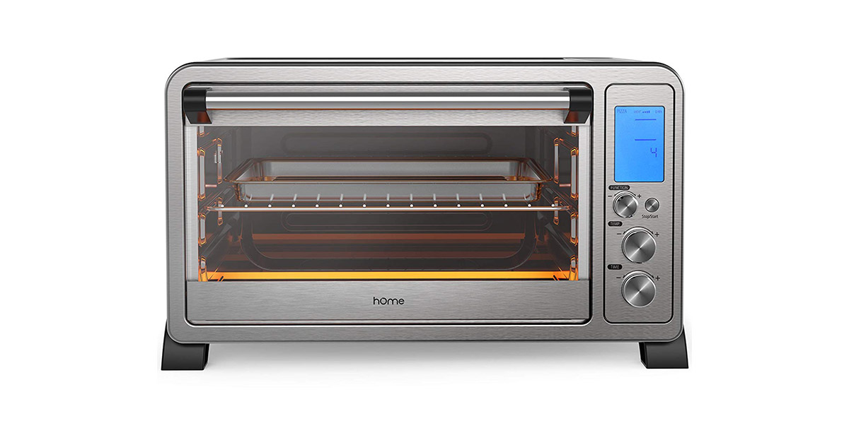 hOmeLabs Digital Countertop Convection 6 Slice LCD Display Compact Stainless Steel Toaster Oven image