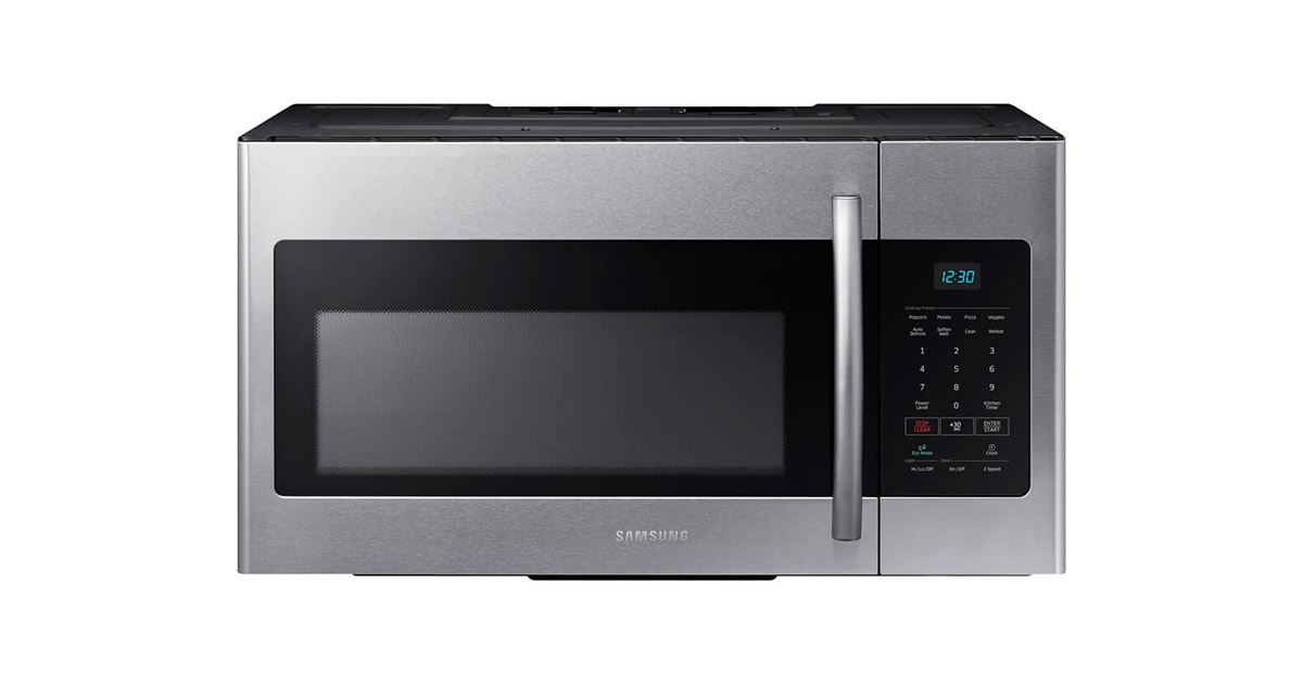 Samsung ME16H702SES Stainless Steel Over-the-Range Microwave Oven image