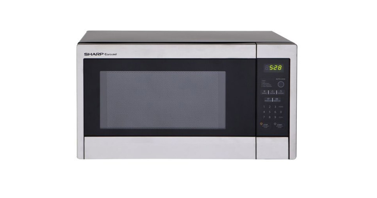 Sharp R-331ZS Standard Stainless Steel Microwave Oven image